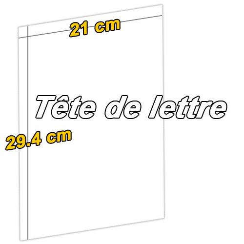 tete de lettre a4 papier entete pas cher en tete prix bas. Black Bedroom Furniture Sets. Home Design Ideas