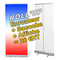 Lire tout le message: ROLL'UP ECO COMPLET A 26 €HT