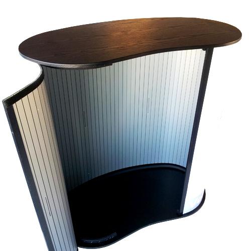 banque comptoir d 39 accueil publicitaire personnalise a. Black Bedroom Furniture Sets. Home Design Ideas